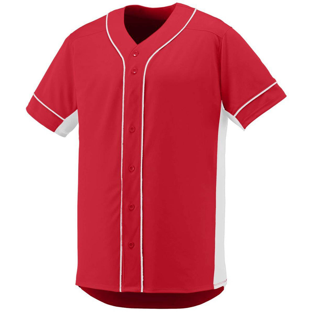 Augusta 1660 Slugger Jersey - Red White - HIT A Double