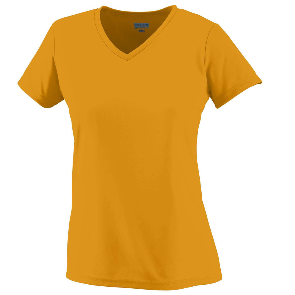Augusta 1790 Ladies Wicking T-Shirt - Gold - HIT A Double