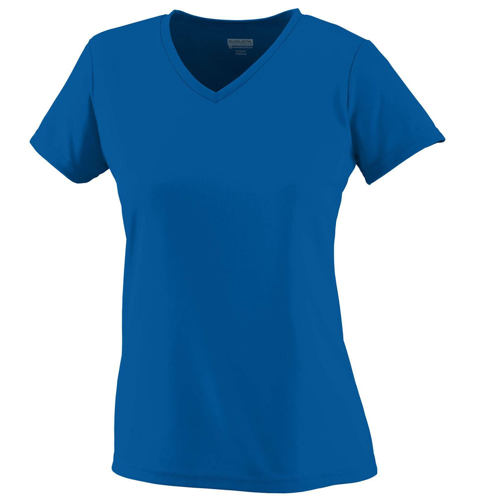 Augusta 1790 Ladies Wicking T-Shirt - Royal - HIT A Double