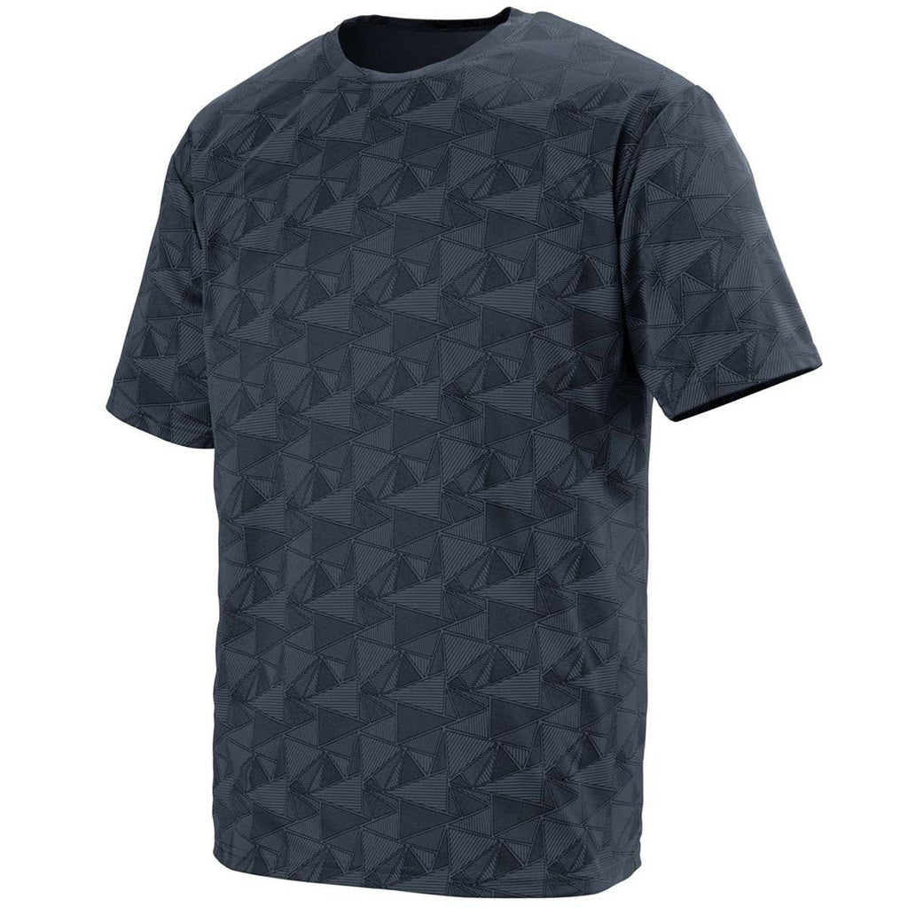 Augusta 1795 Elevate Wicking T-Shirt - Graphite Black Print - HIT A Double