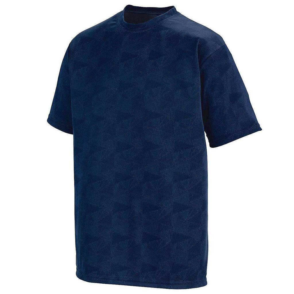 Augusta 1795 Elevate Wicking T-Shirt - Navy White Print - HIT A Double