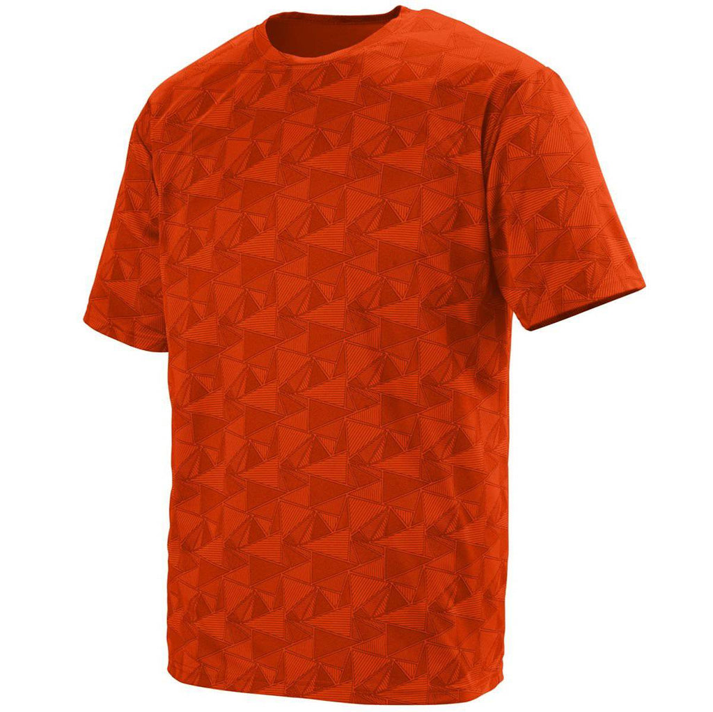 Augusta 1795 Elevate Wicking T-Shirt - Orange Black Print - HIT A Double