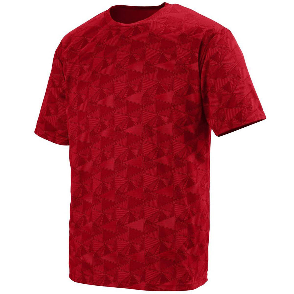 Augusta 1795 Elevate Wicking T-Shirt - Red Black Print - HIT A Double