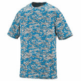 Augusta 1799 Youth Digi Camo Wicking T-Shirt - Power Blue Digi - HIT A Double