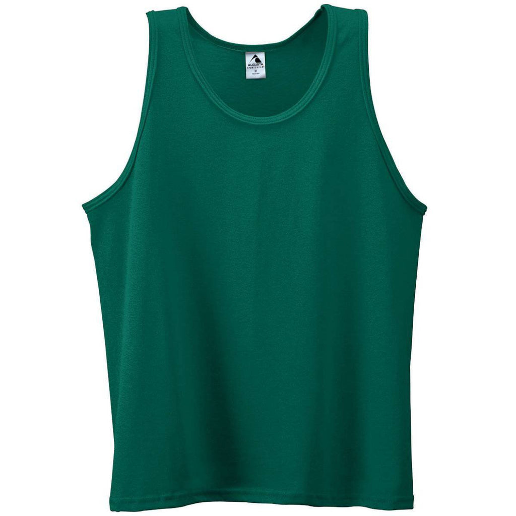 Augusta 180 Poly Cotton Athletic Tank - Dark Green - HIT A Double