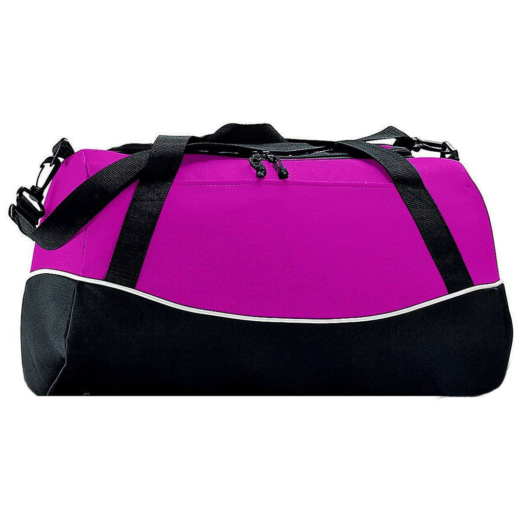 Augusta 1910 Tri-Color Sport Bag - Power Pink Black White - HIT A Double
