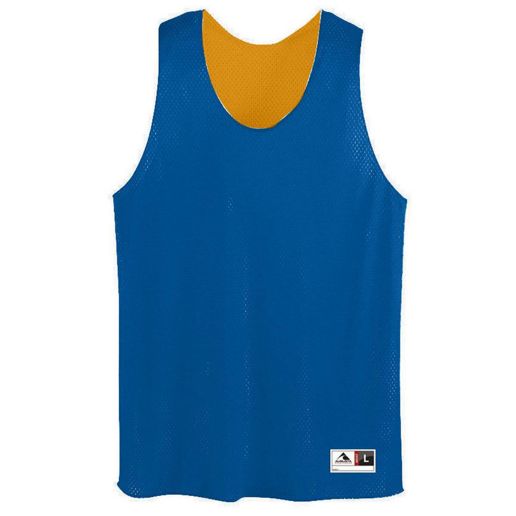 Augusta 198 Youth Tricot Mesh Reversible Tank - Royal Gold - HIT A Double