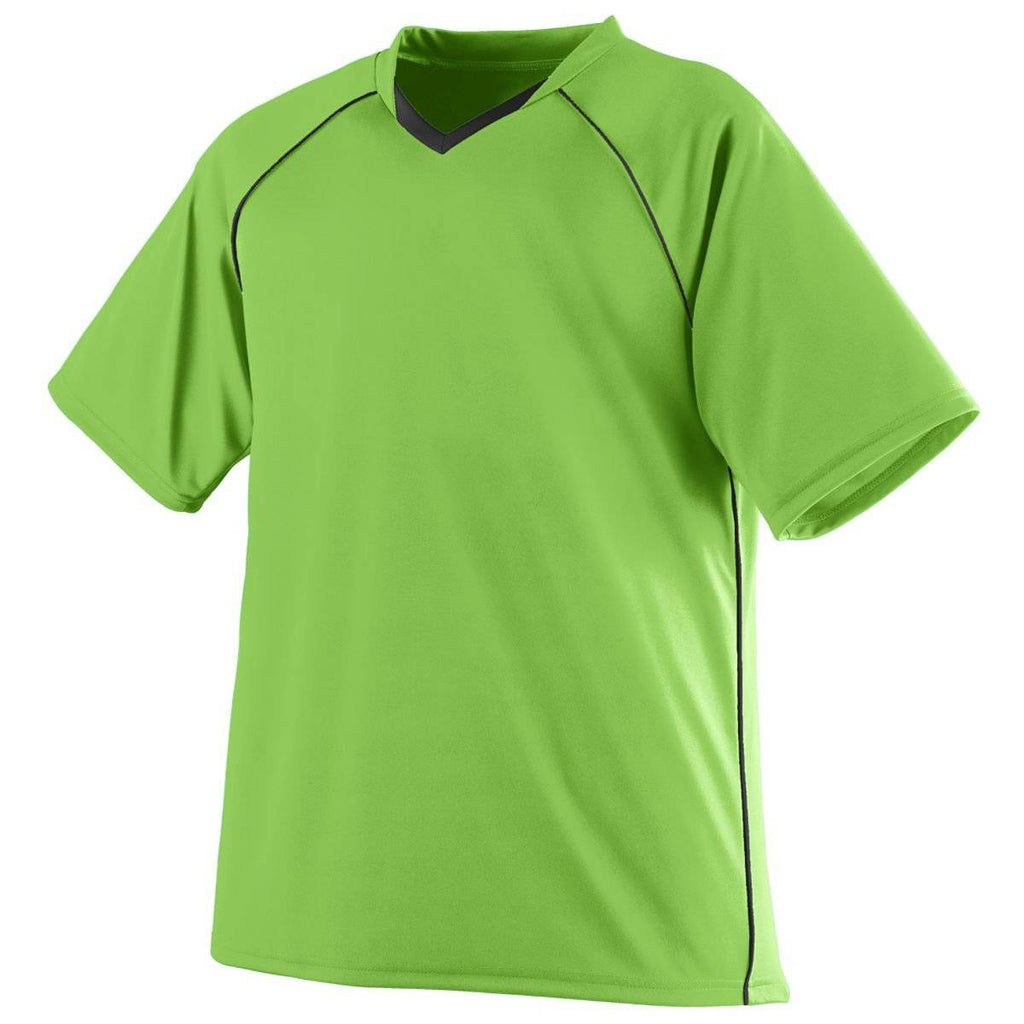 Augusta 215 Striker Jersey - Youth - Lime Black - HIT A Double