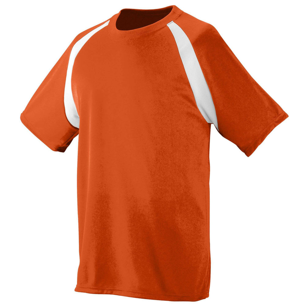 Augusta 219 Wicking Color Block Jersey - Youth - Orange White - HIT A Double