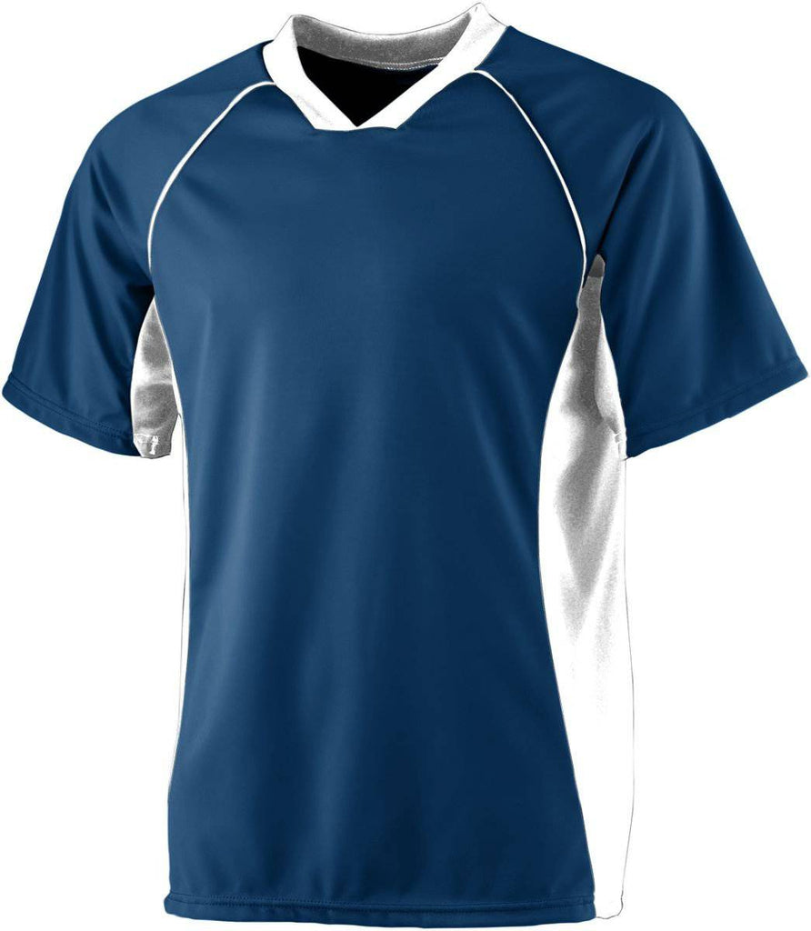 Augusta 244 Wicking Soccer Shirt-Youth - Navy White - HIT A Double