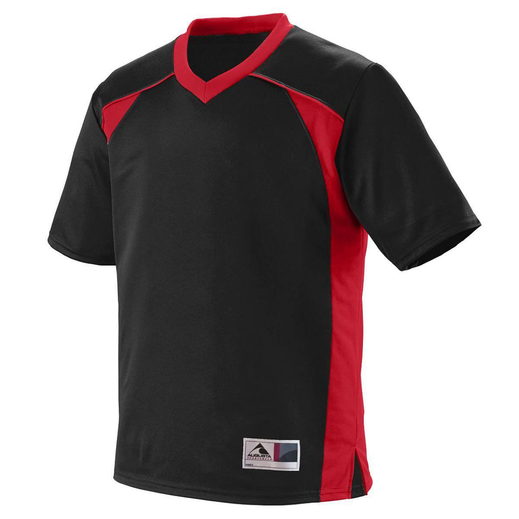 Augusta 260 Victor Replica Jersey - Black Red - HIT A Double
