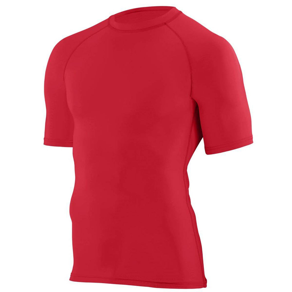 Augusta 2601 Hyperform Compression Short Sleeve Shirt - Youth - Red - HIT A Double