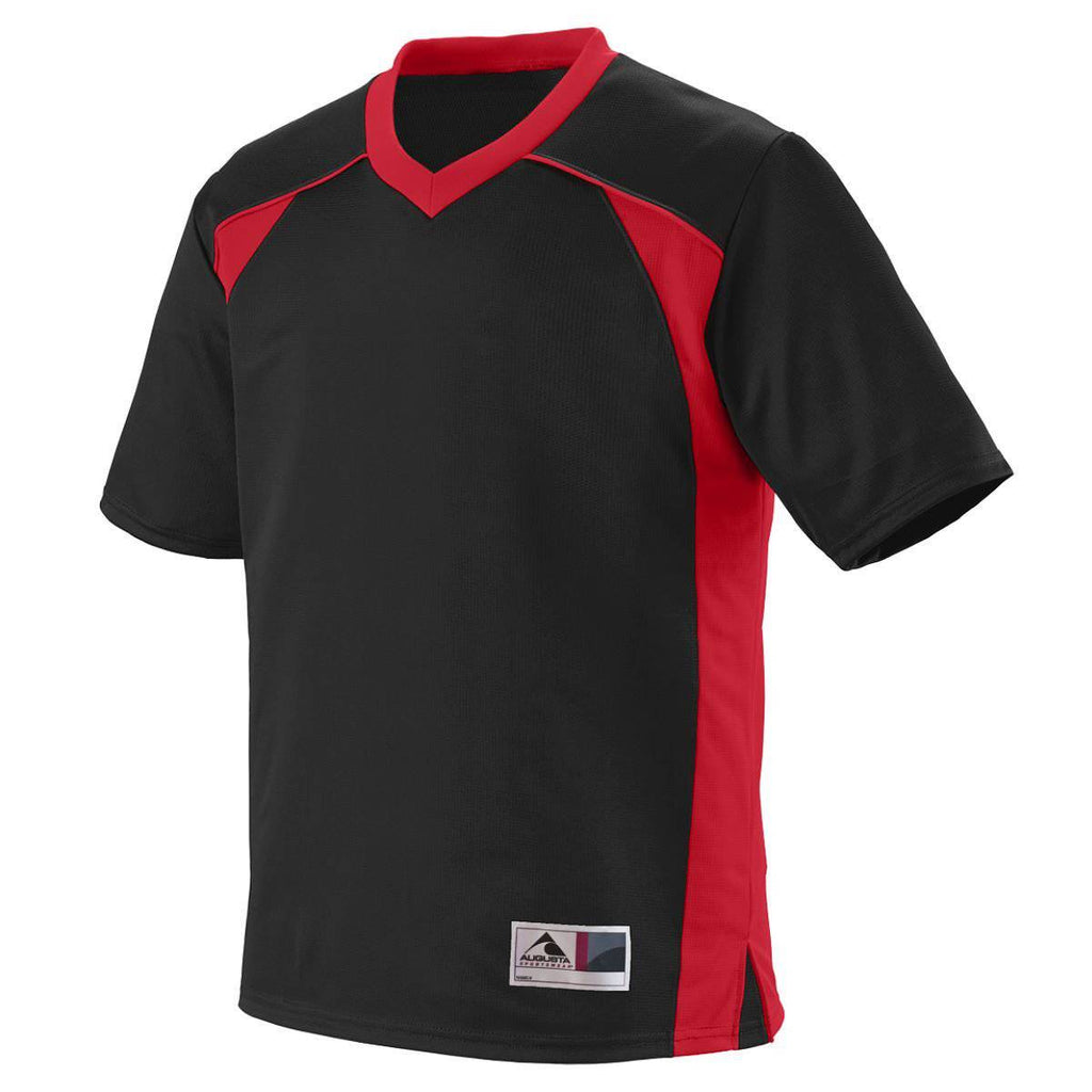 Augusta 261 Victor Replica Jersey Youth - Black Red - HIT A Double
