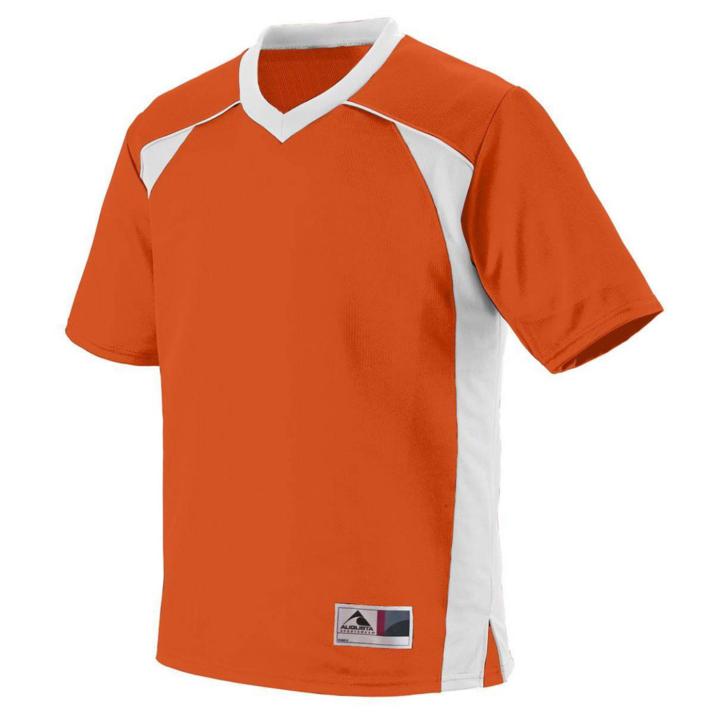 Augusta 261 Victor Replica Jersey Youth - Orange White - HIT A Double
