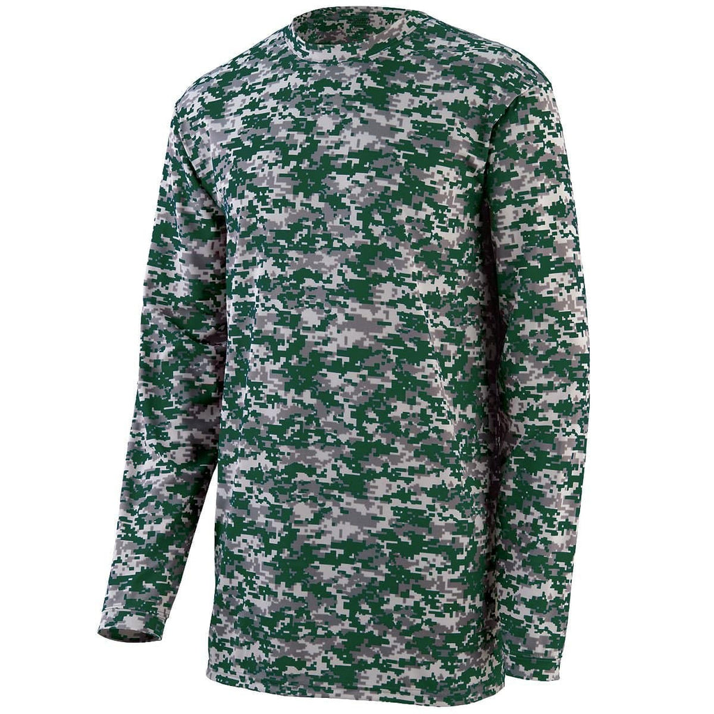 Augusta 2788 Camo Wicking Long Sleeve T-Shirt - Forest Camo - HIT A Double