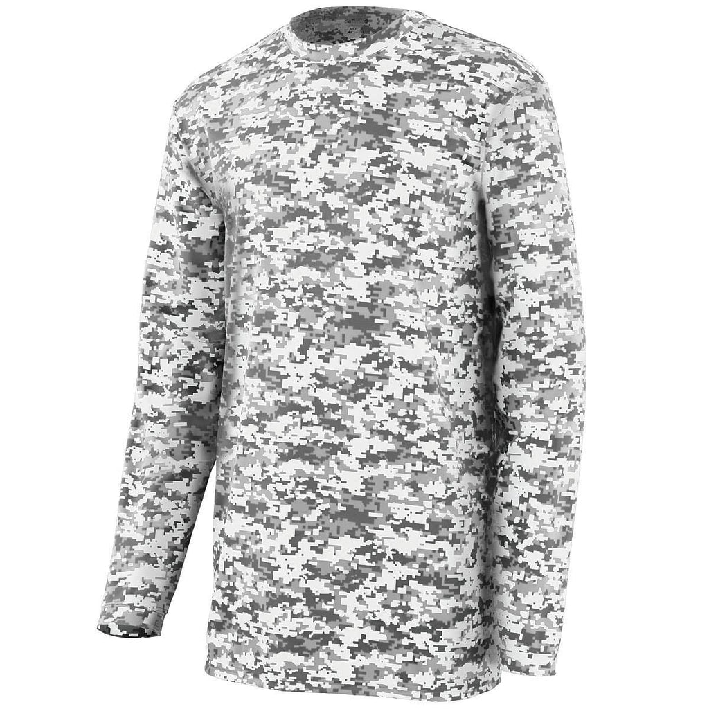 Augusta 2788 Camo Wicking Long Sleeve T-Shirt - White Camo - HIT A Double