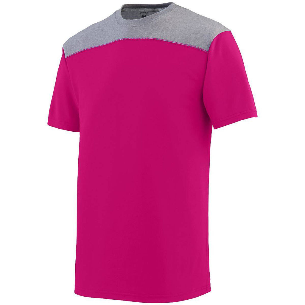 Augusta 3055 Challenge T-Shirt - Pink Dark Gray - HIT A Double