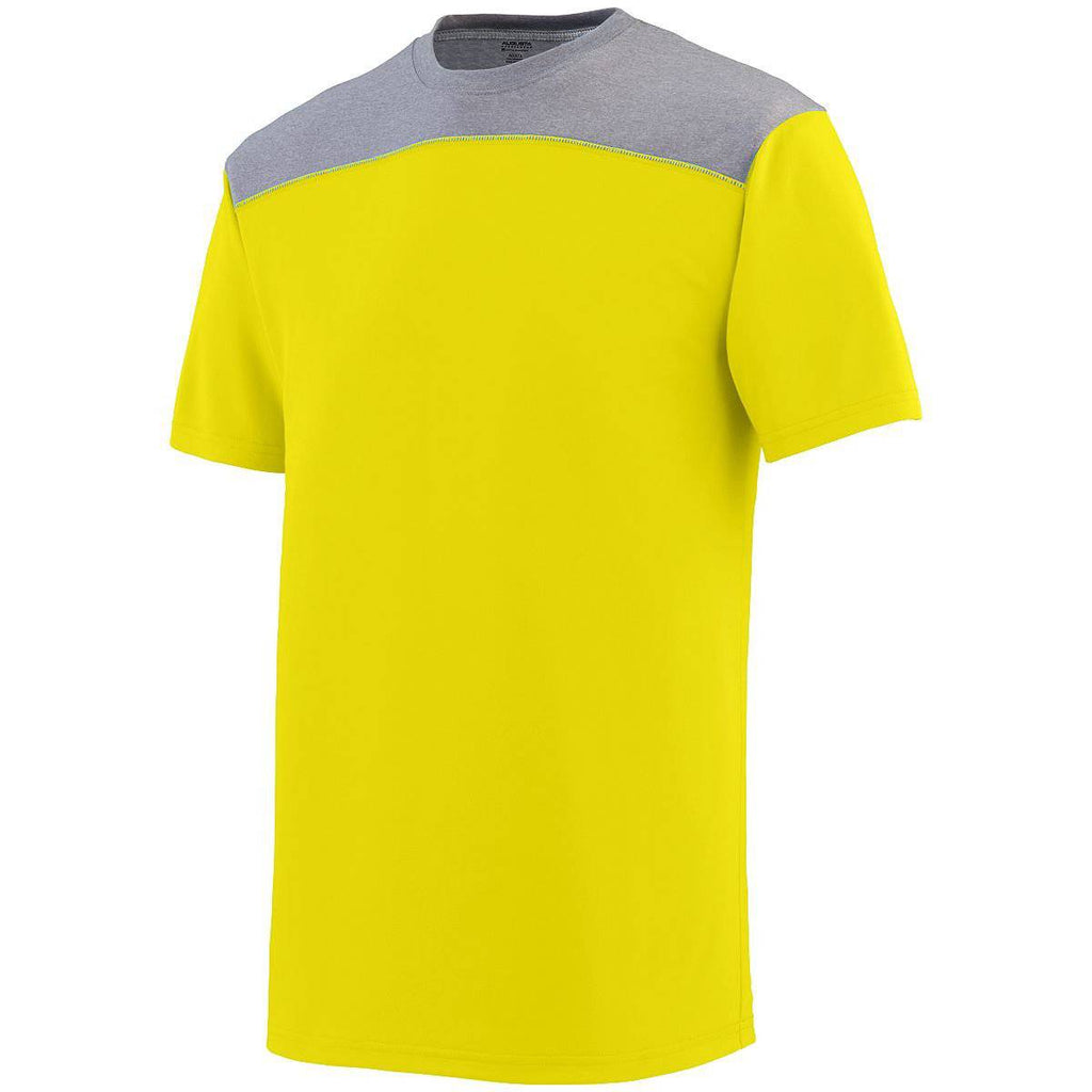 Augusta 3055 Challenge T-Shirt - Yellow Dark Gray - HIT A Double