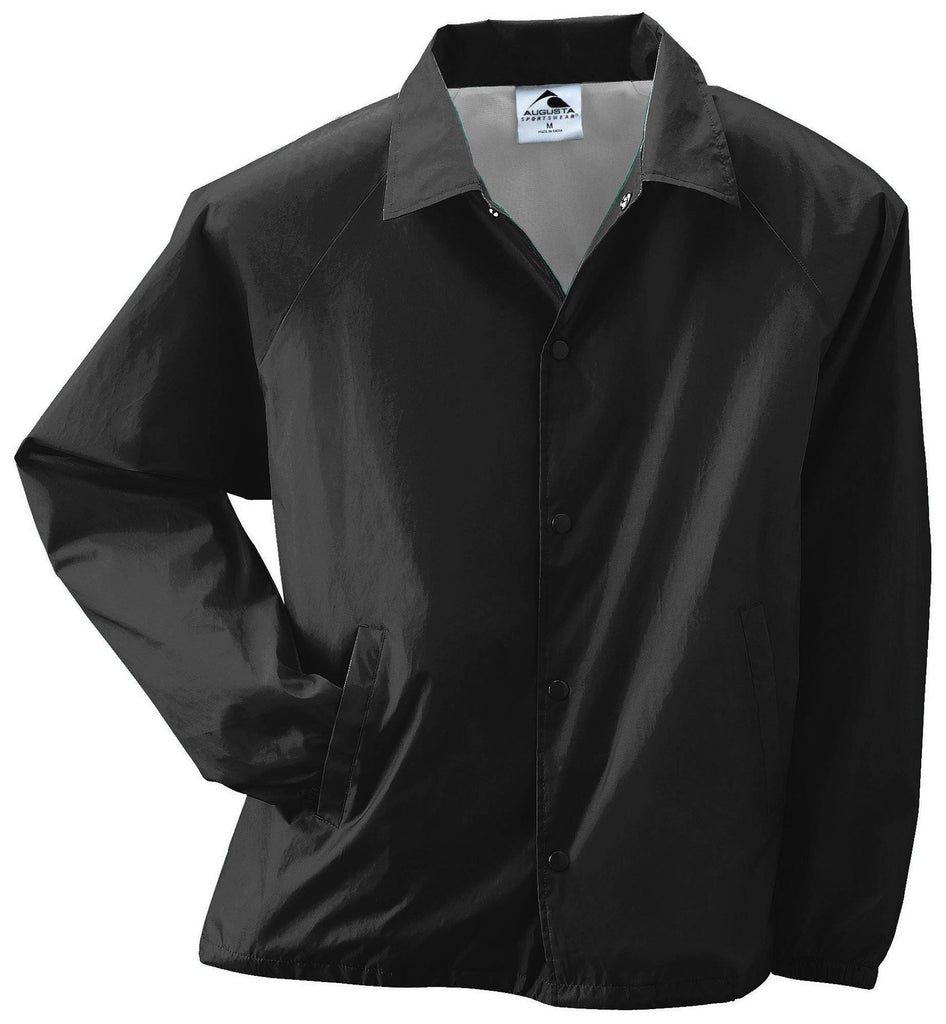 Augusta 3100 Nylon Coach's Jacket/Lined - Black - HIT A Double