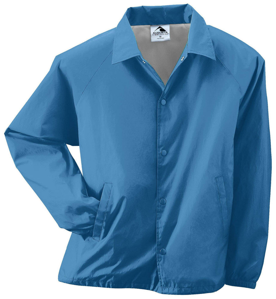 Augusta 3100 Nylon Coach's Jacket/Lined - Columbia Blue - HIT A Double