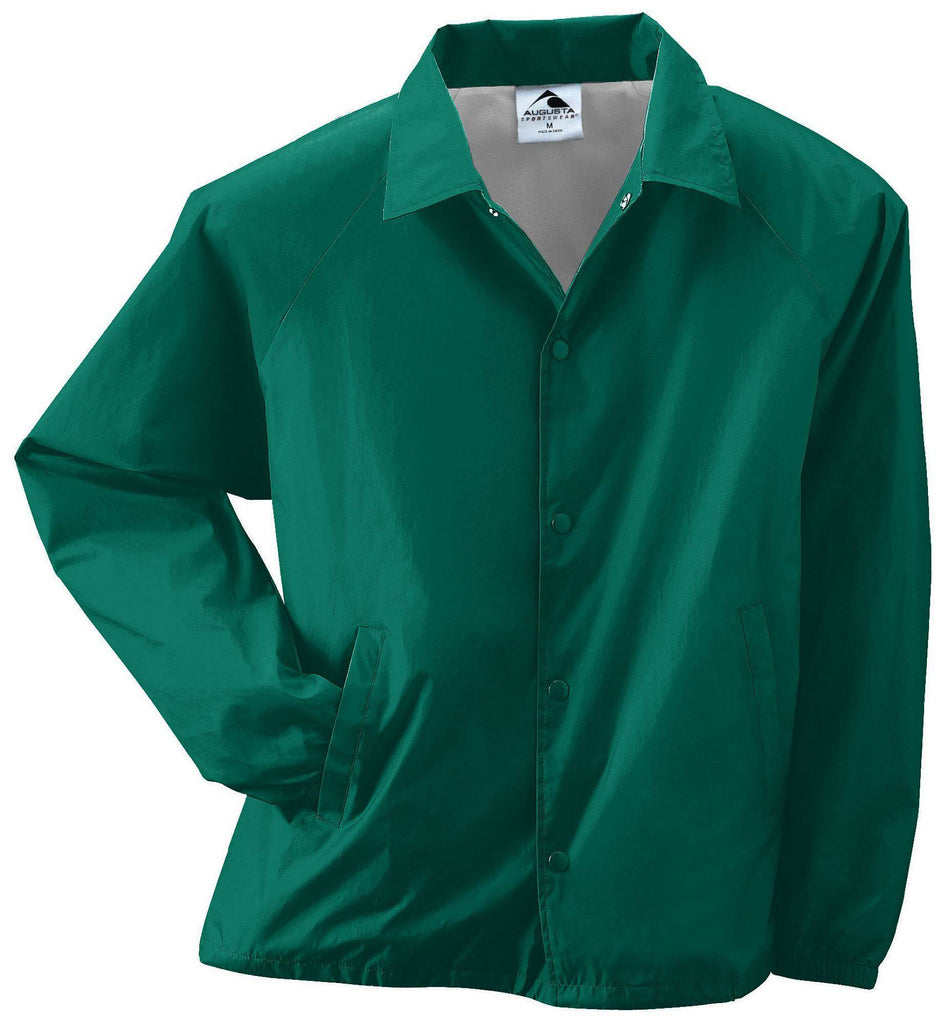 Augusta 3100 Nylon Coach's Jacket/Lined - Dark Green - HIT A Double