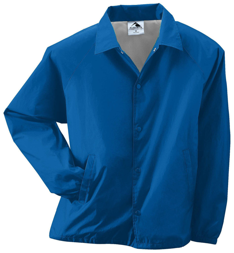 Augusta 3101 Youth Nylon Coach's Jacket/Lined - Royal - HIT A Double