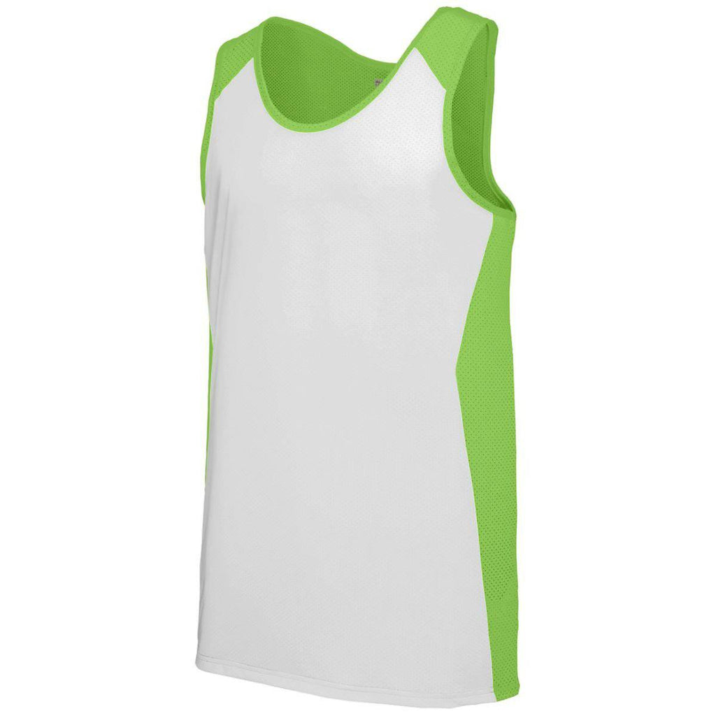 Augusta 323 Alize Jersey - Lime White - HIT A Double