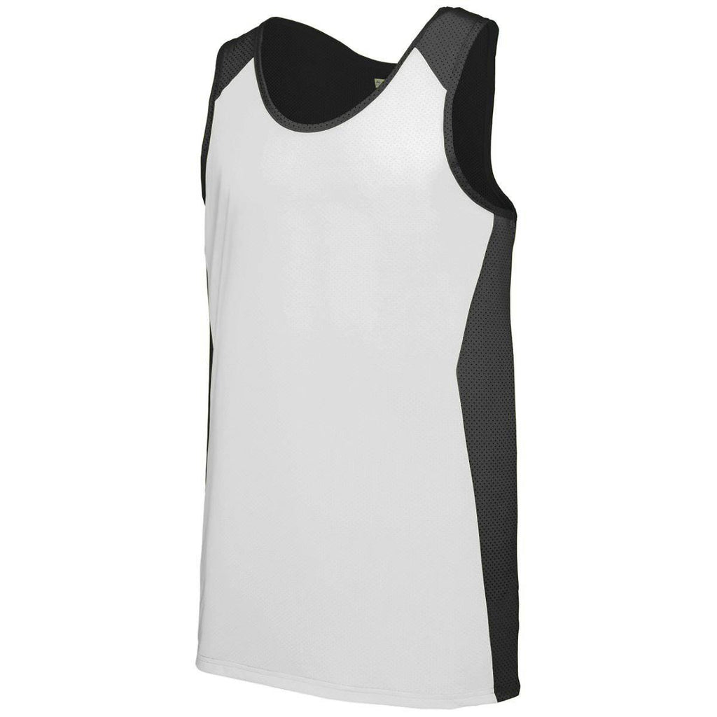 Augusta 324 Alize Jersey - Youth - Black White - HIT A Double