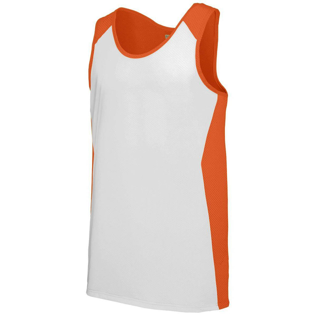 Augusta 324 Alize Jersey - Youth - Orange White - HIT A Double