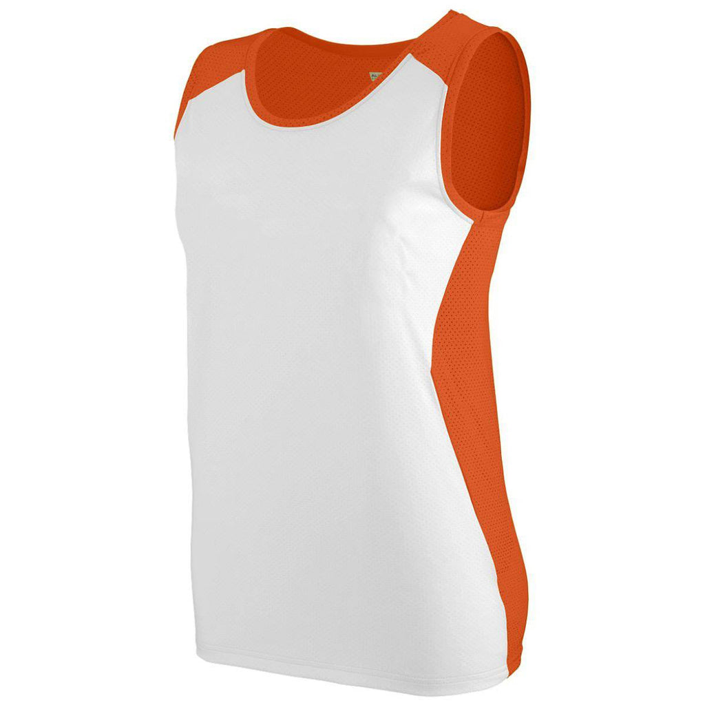 Augusta 329 Ladies Alize Jersey - Orange White - HIT A Double