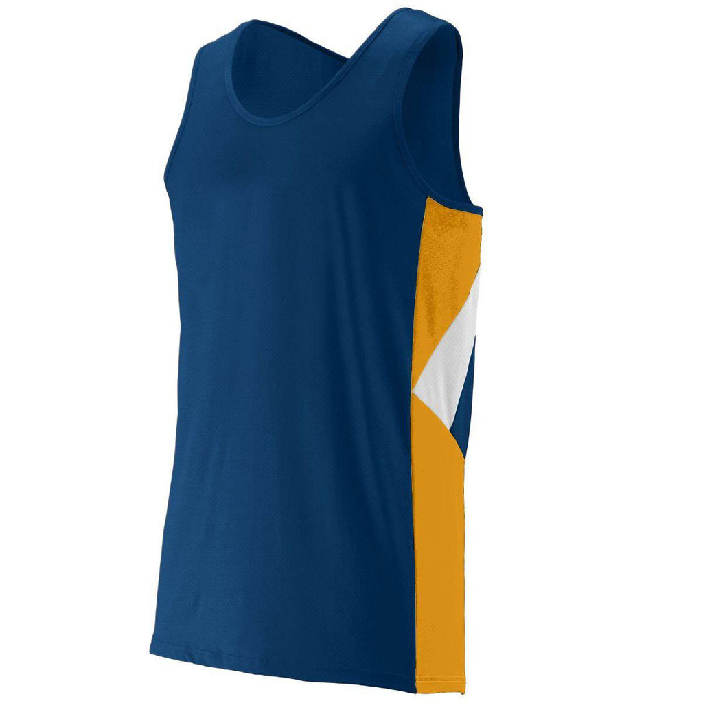 Augusta 333 Sprint Jersey - Youth - Navy Gold White - HIT A Double