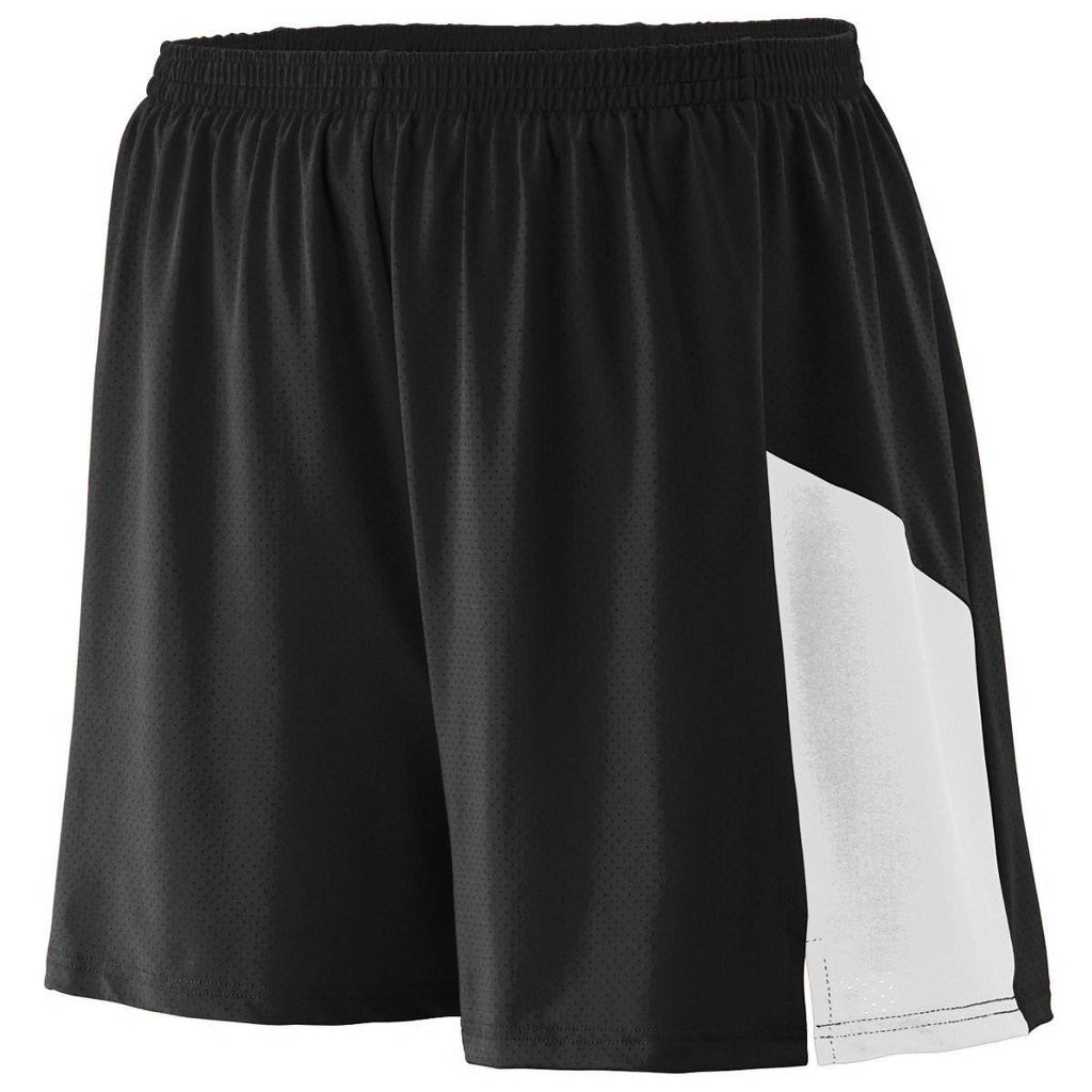 Augusta 336 Sprint Short - Youth - Black White - HIT A Double