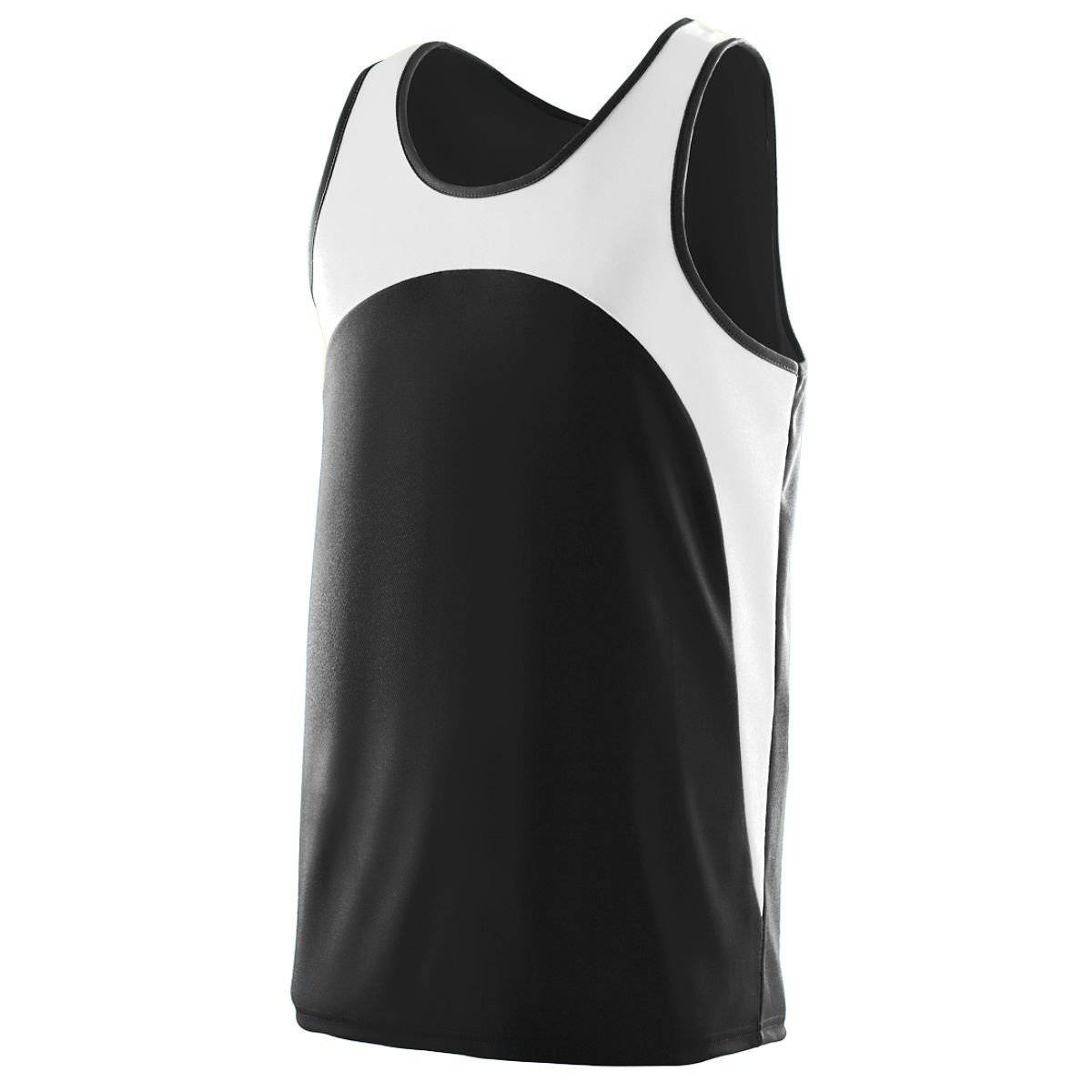 Augusta 340 Velocity Track Jersey - Black White - HIT A Double