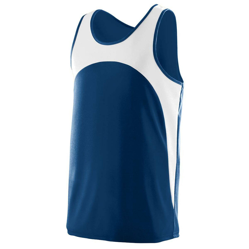 Augusta 341 Velocity Track Jersey - Youth - Navy White - HIT A Double