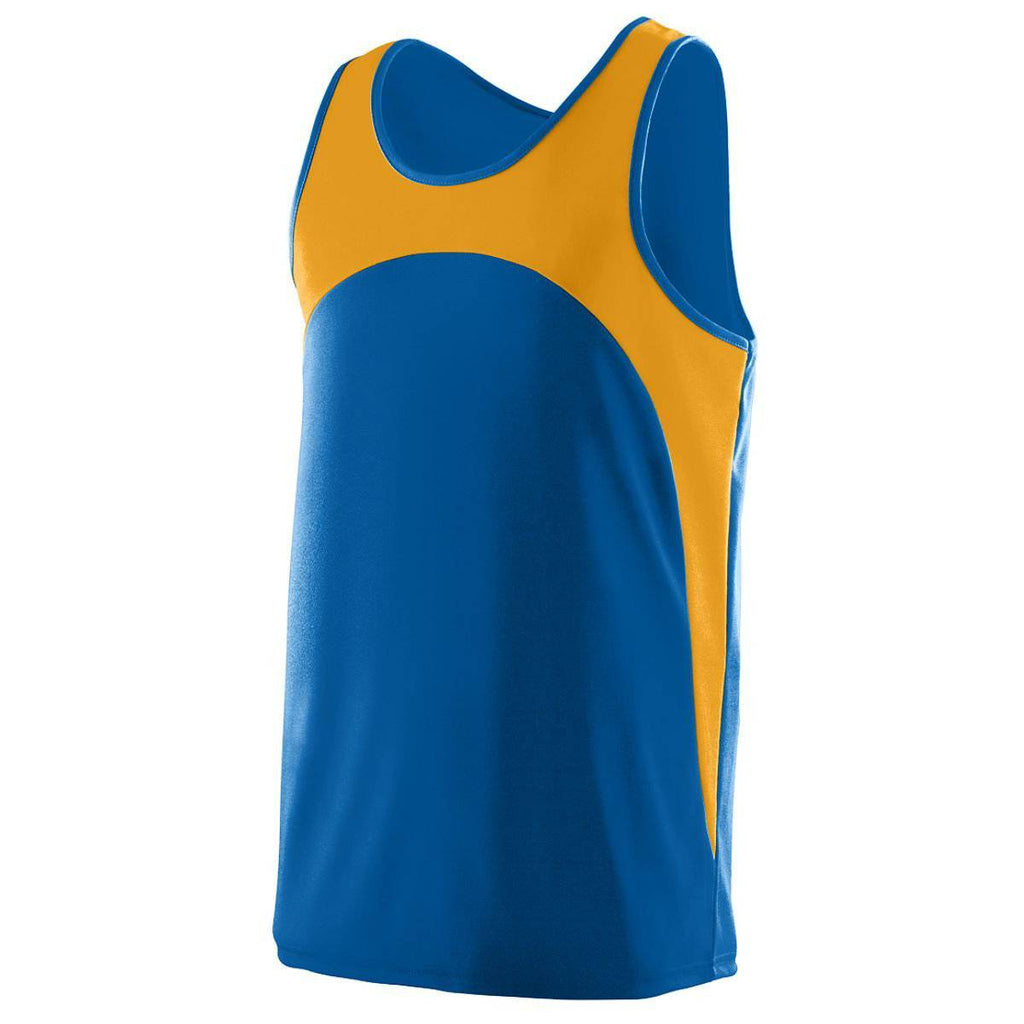 Augusta 341 Velocity Track Jersey - Youth - Royal Gold - HIT A Double