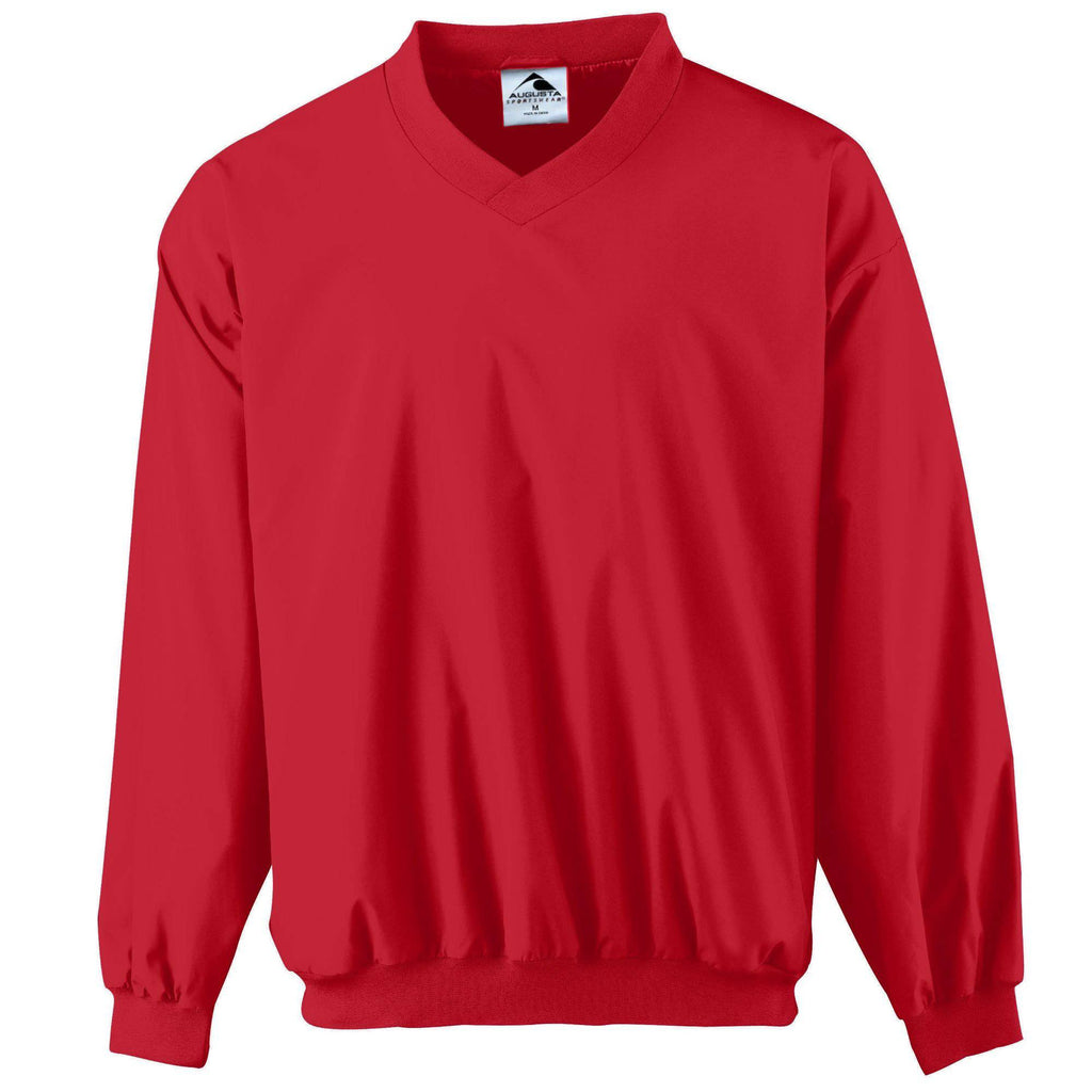 Augusta 3415 Micro Poly Windshirt/Lined - Red - HIT A Double