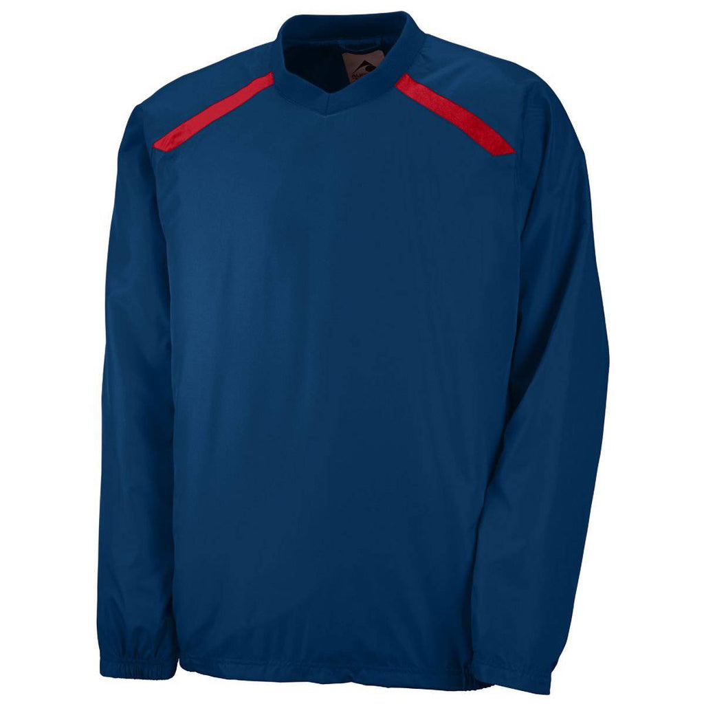 Augusta 3418 Youth Promentum Pullover - Navy Red - HIT A Double