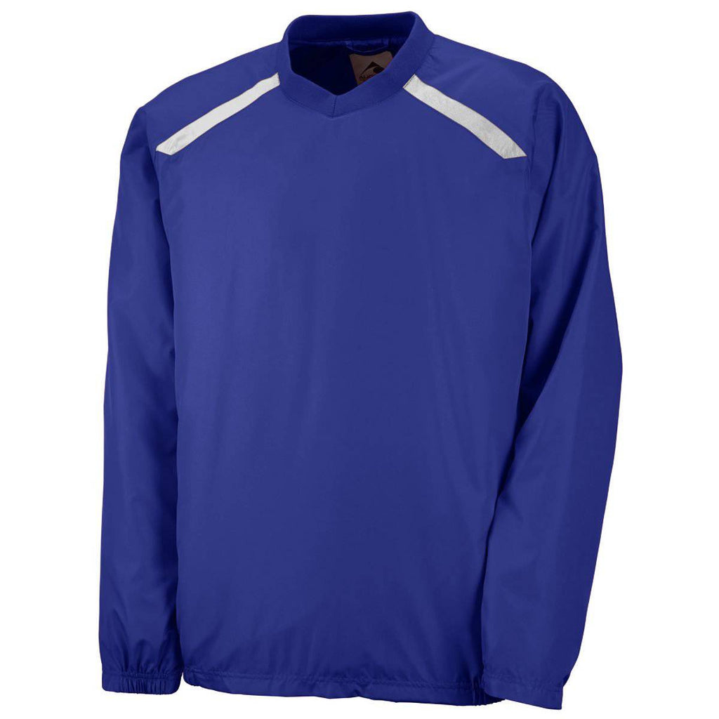Augusta 3418 Youth Promentum Pullover - Purple White - HIT A Double