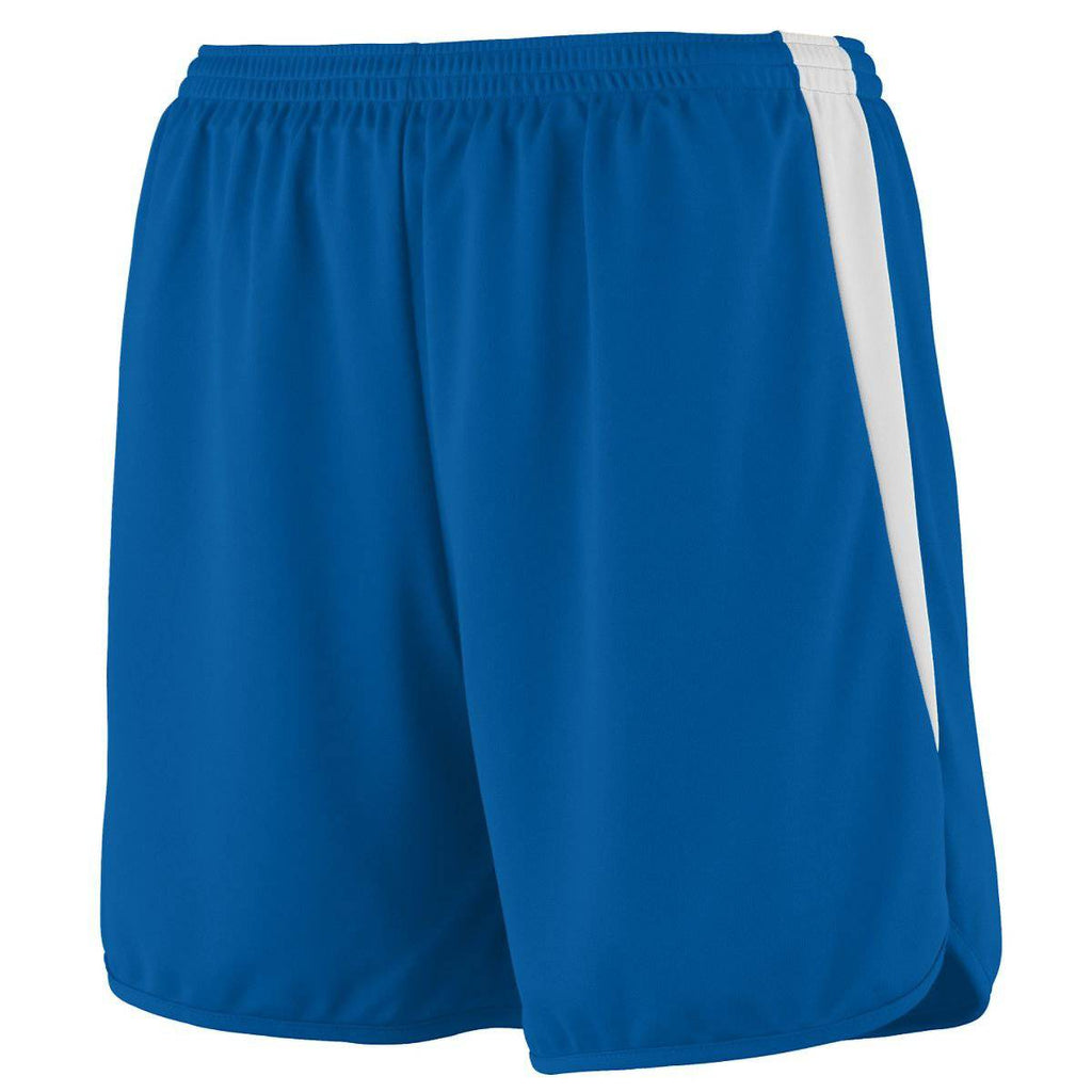 Augusta 345 Velocity Track Short - Royal White - HIT A Double