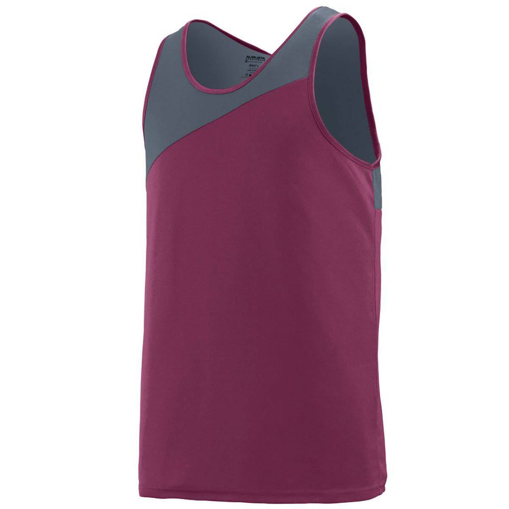 Augusta 353 Accelerate Jersey Youth - Maroon Dark Gray - HIT A Double