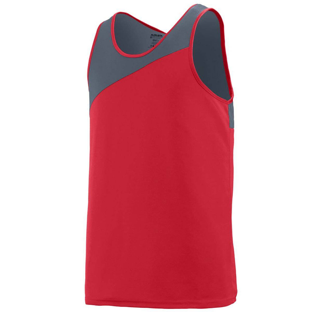 Augusta 353 Accelerate Jersey Youth - Red Dark Gray - HIT A Double