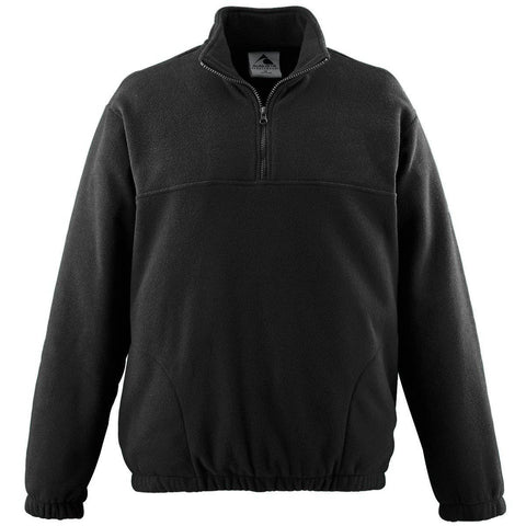 Augusta 3531 Youth Chill Fleece Half-Zip Pullover - Black