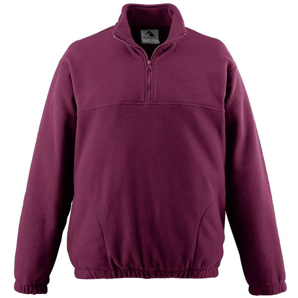 Augusta 3531 Youth Chill Fleece Half-Zip Pullover - Maroon