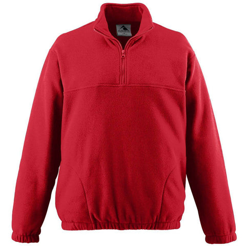 Augusta 3531 Youth Chill Fleece Half-Zip Pullover - Red
