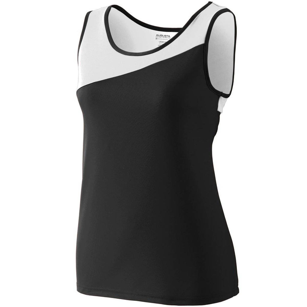 Augusta 354 Ladies Accelerate Jersey - Black White - HIT A Double