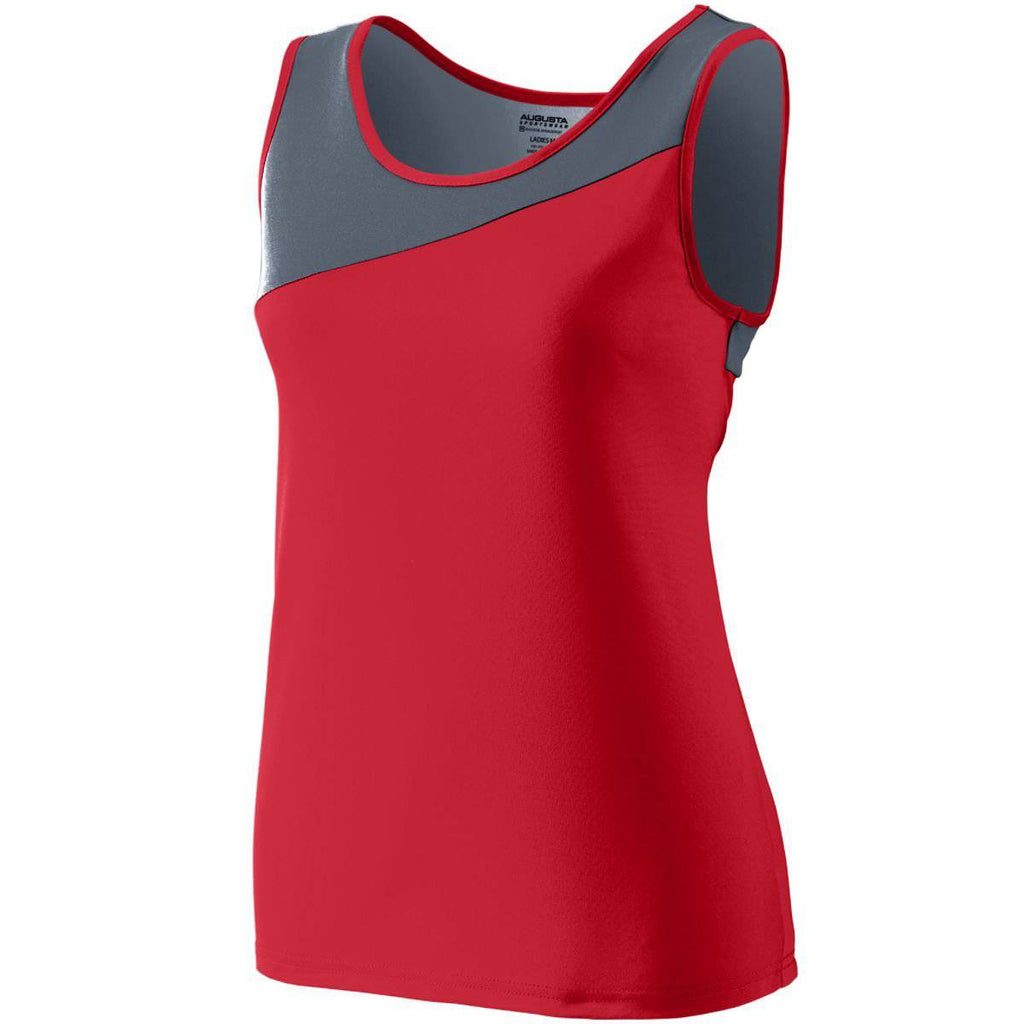 Augusta 354 Ladies Accelerate Jersey - Red Dark Gray - HIT A Double