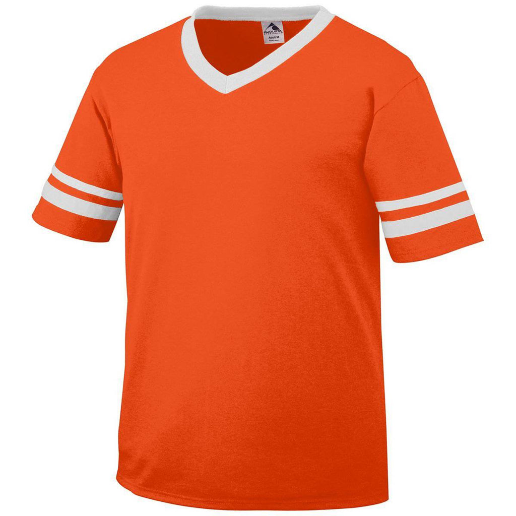 Augusta 360 Sleeve Stripe Jersey - Orange White - HIT A Double