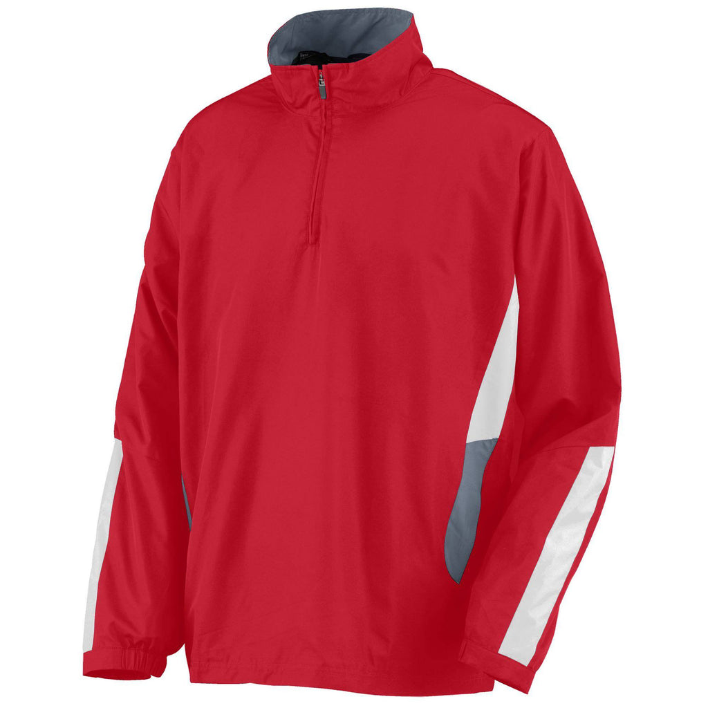 Augusta 3720 Drive Pullover - Red Graphite White - HIT A Double