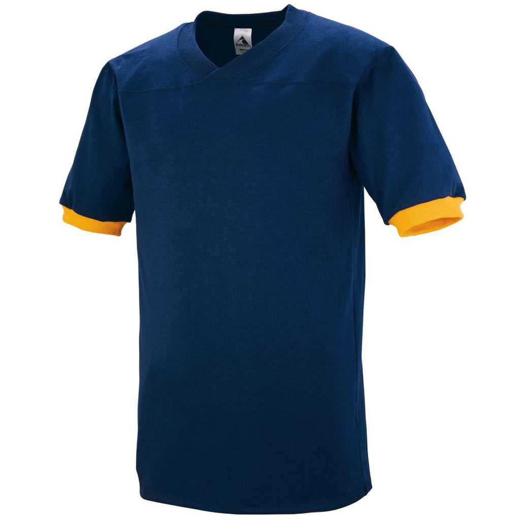 Augusta 374 Fraternity Jersey - Navy Gold - HIT A Double