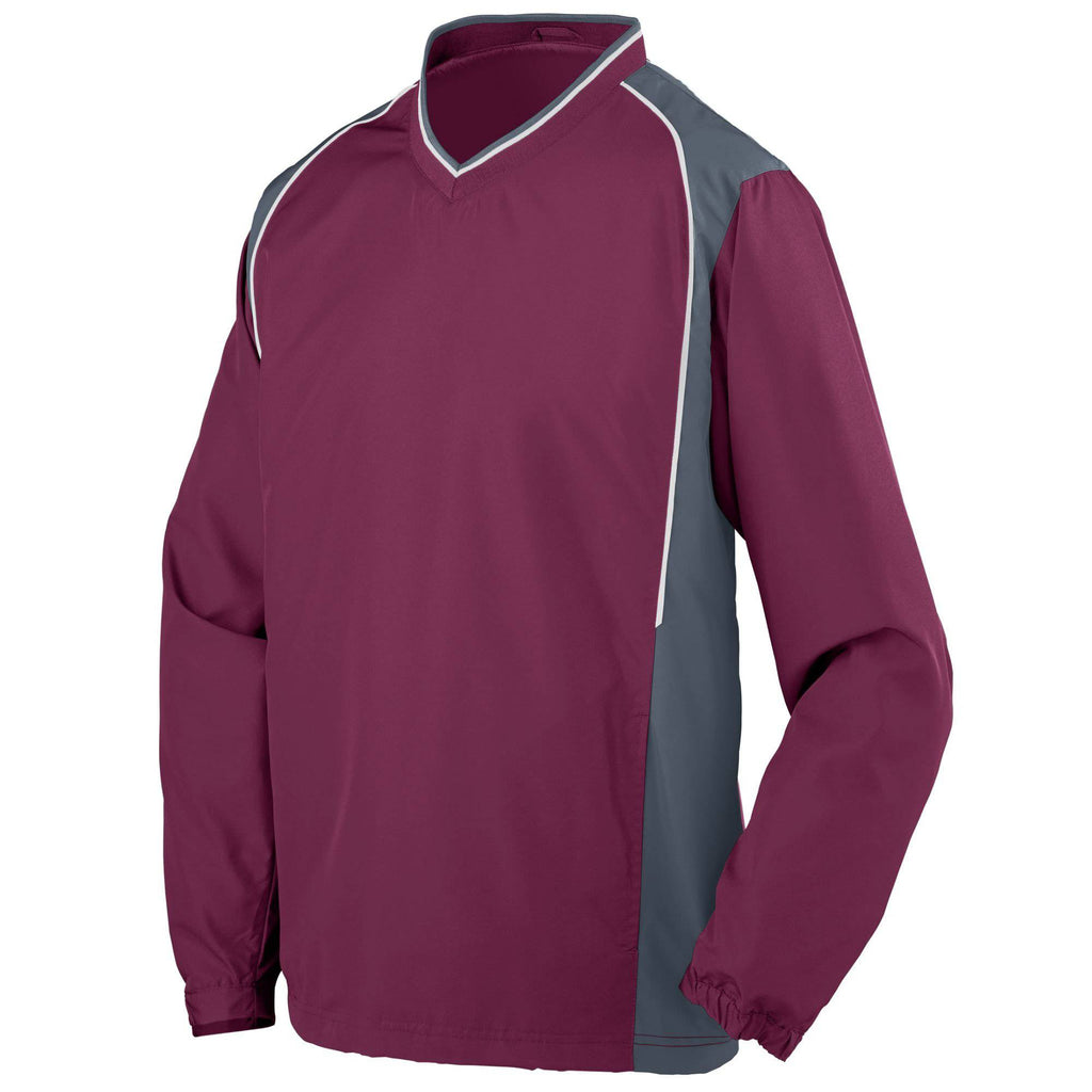 Augusta 3745 Roar Pullover - Maroon Graphite White - HIT A Double